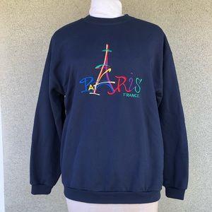 Vintage Paris France 90s sweatshirt